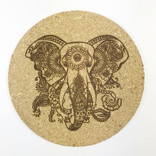 Korkuntersetzer Elefant