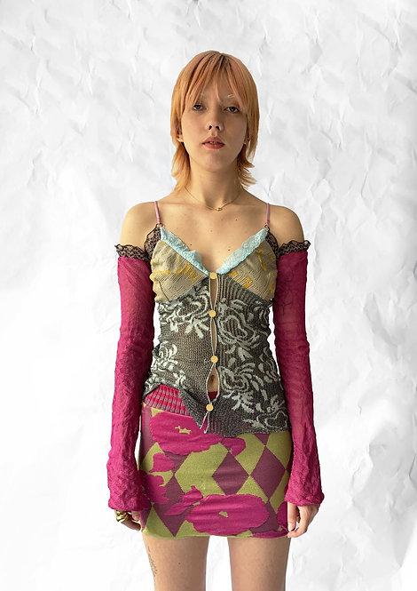 Ce Soir: Jacquard Mini Skirt