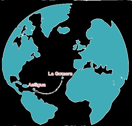 Map of Atlantic Row Route