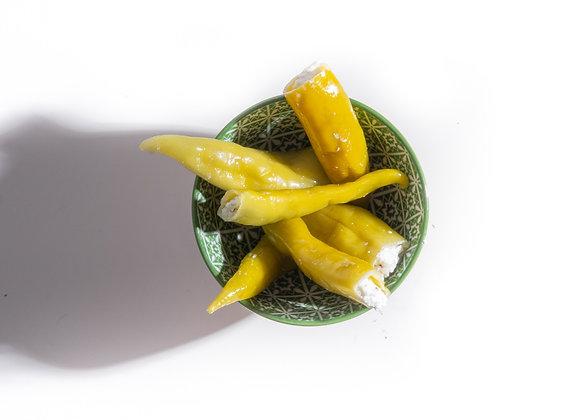 Groene Pepers gevuld met Feta
