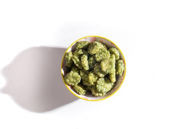 Rijst crackers met wasabi