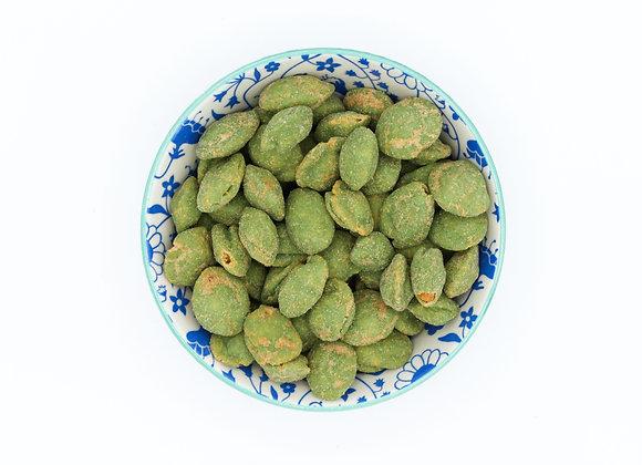 Pinda met wasabi groen