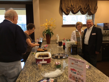 Second Family Home Care Hosts Happy Hour at McDermott Crossing Luxury Senior Living