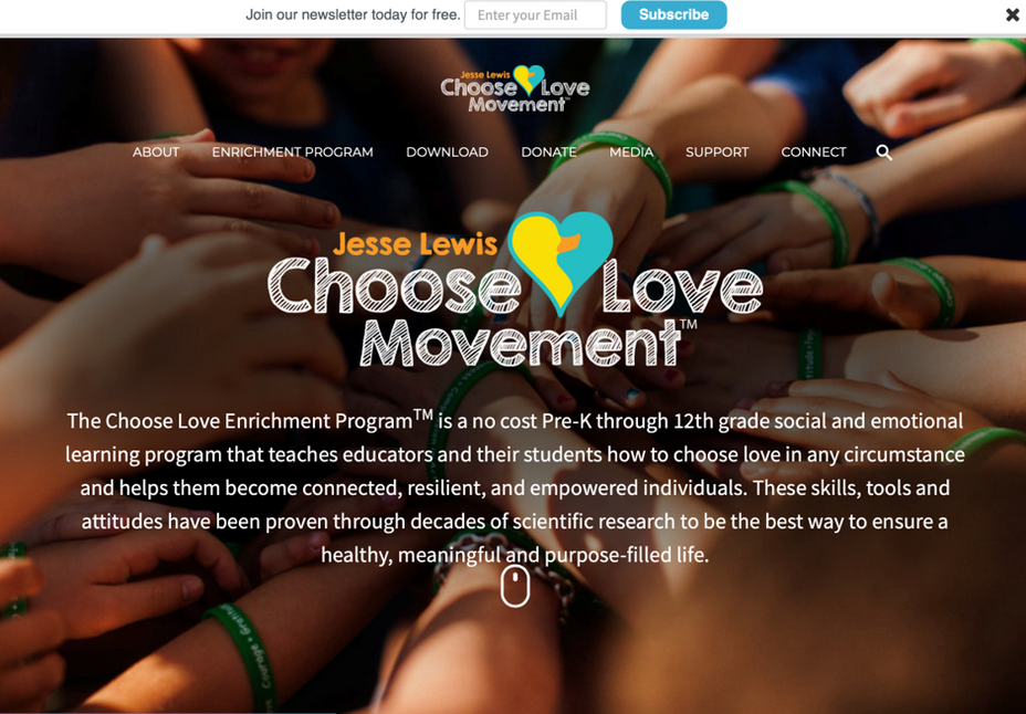 Jesse Lewis Choose Love Web Site