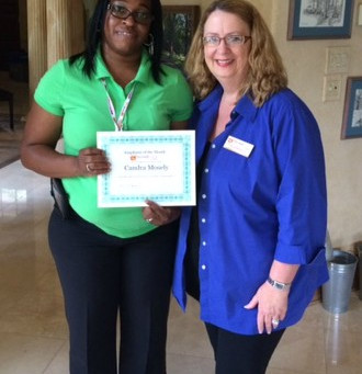 EMPLOYEE OF THE MONTH CANDRA MOSLEY