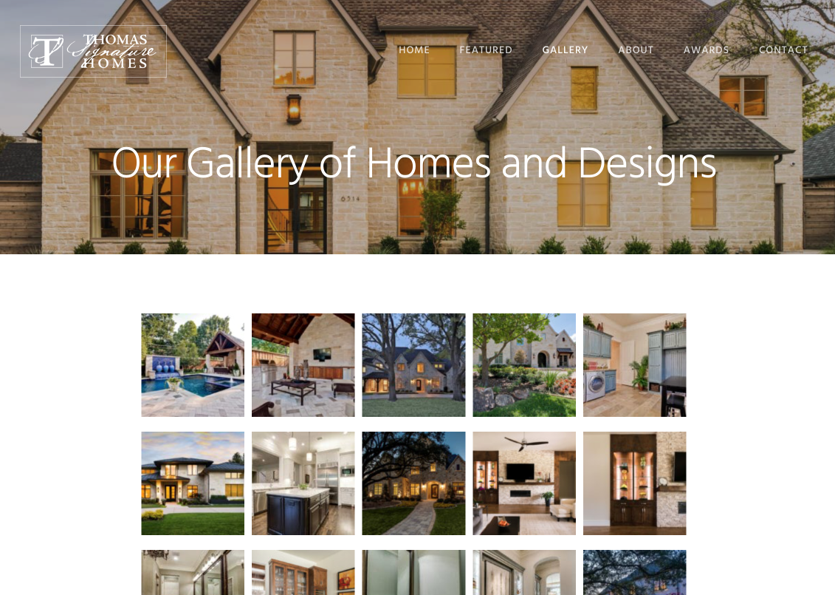Thomas London Signature Homes Web Site