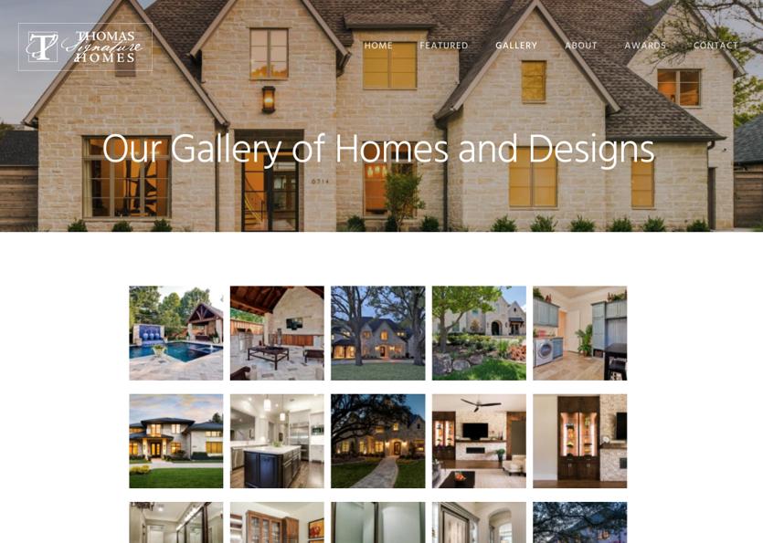 Thomas London Signature Homes Web Site