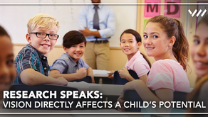 Research Speaks: Vision Directly Affects A Child's Potential