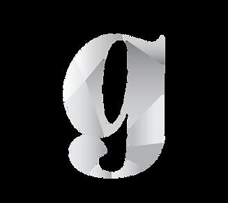 the grey area logo - gradient g mark_Whi