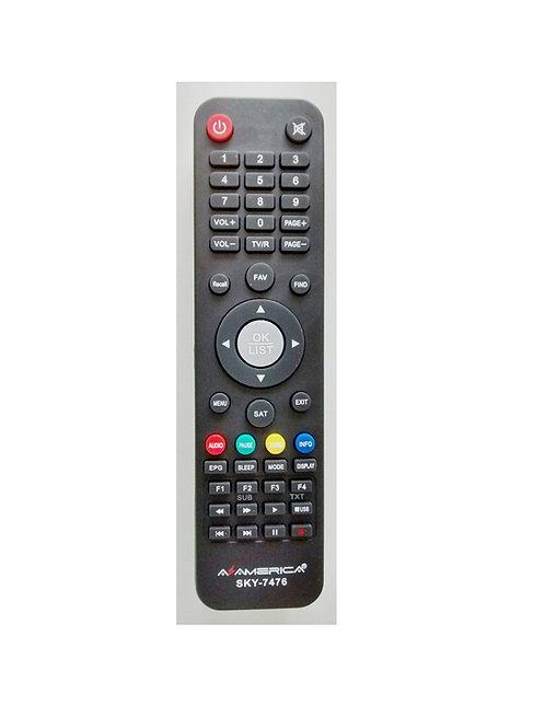 Controle Remoto Receptor Digital NAZAVOX SKY-7021 / AZAMERICA S1001 - FBG-7476 /