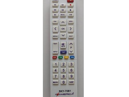 Controle Remoto Receptor Azamerica Silver HD  SKY7081  S1009 HD