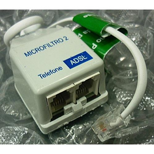 Filtro de linha duplo  Telefone e ADSL  Marca Anatel