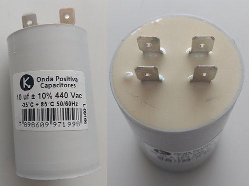 Capacitor motor Permanente c Terminau 10uf X 440vac