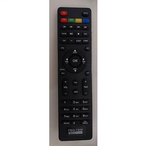Controle remoto Receptor digital CINEBOX HD  GIGA BOX S1000 FBG7500  7550A