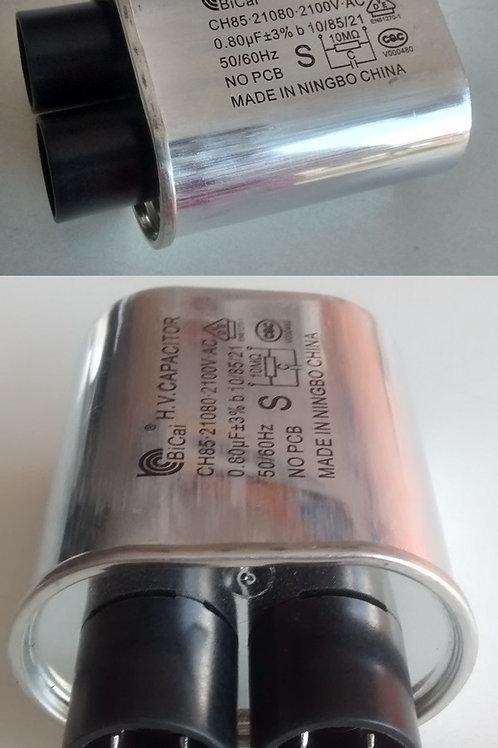 Capacitor alta de forno microondas 080UF X 2100V terminal largo