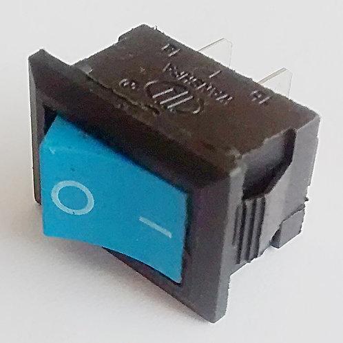 Chave tecla gangorra Azul 2 polos  KCD10101 6A  250V