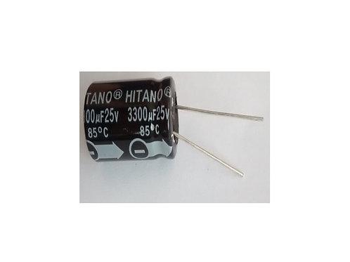 Capacitor Eletrolitico 3300uf x 25V  85  Marca Hitano