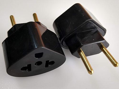 Adaptador 2P X 3 PT Universal  10a  250V preto