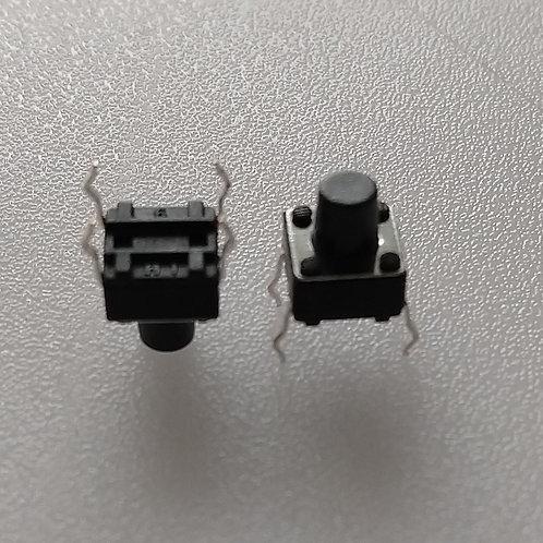 Chave de toque corpo 6x6 X 9mm eixo com 04 terminais