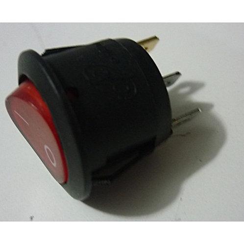 Chave power Onoff Led vermelho 3 polos  6A  250V