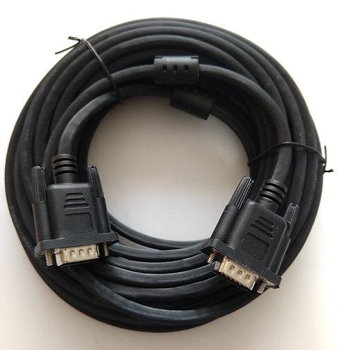 Cabo VGA monitor  DB15 M X DB15 M com filtro cor Preto 10mt Marca STORM