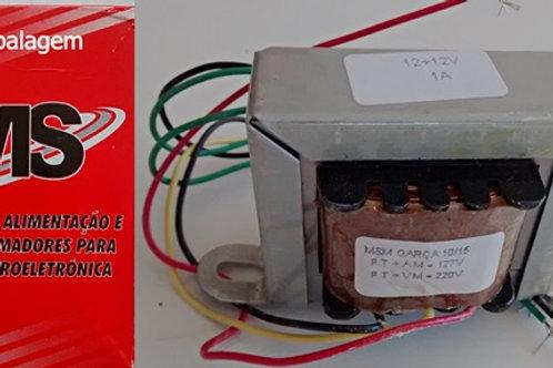 Transformador Forca  1212V 1AMP 110  220V AC  Marca MS
