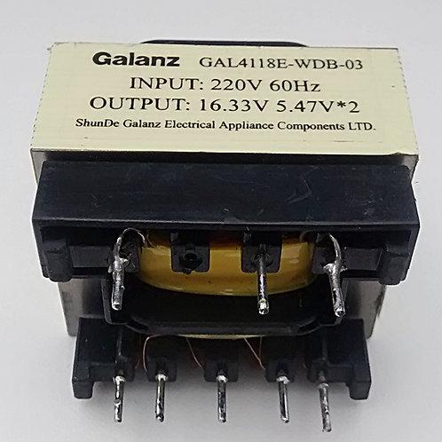 Transformador de painel frontal microondas entrada 220V  60 Hz  saida 1633V