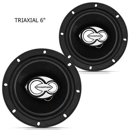 Alto Falante triaxial TRX500  kit Par 6100W RMS 4 homs  marca Champion