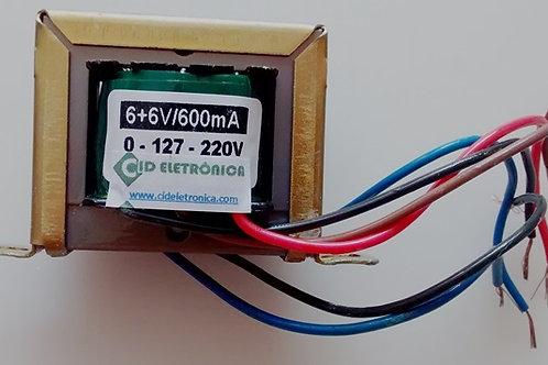 Transformador 66V 600mA 110  220V AC  Marca Gilson