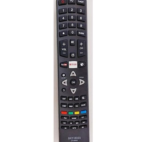 Controle Remoto TV LCD SMART TOCHIBA  you tube  netefrix  SKY8023  CRS8023
