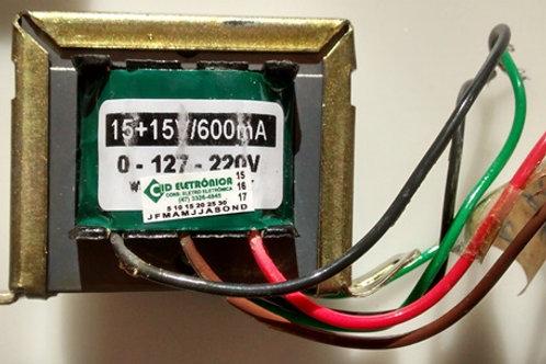 Transformador Forca  1515V 600mA 110  220V AC  Marca Gilson