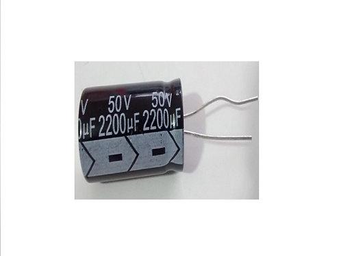 Capacitor Eletrolitico 2200uf x 50V Hitano 16x36  105