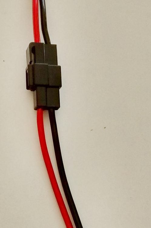 Chicote 2 vias com fio de 4mm para uso geral 35X1 preto marca Permak