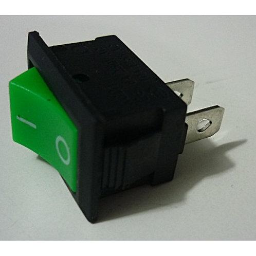Chave tecla gangorra verde 2 polos KCD1 6A  250V