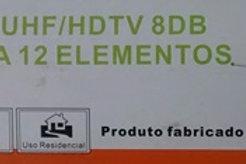 Antena Externa UHF  HDTV 8DB modelo MUTV12A