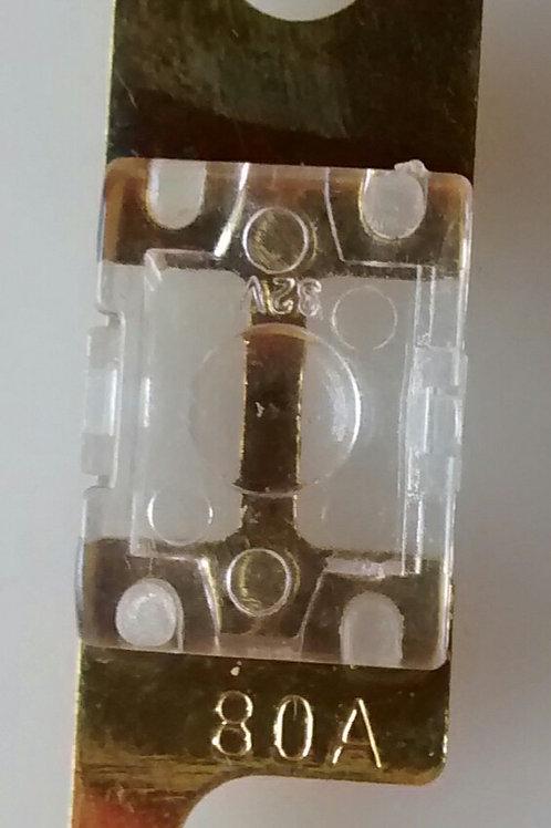 Fusivel anel faca pequeno 80A transparente