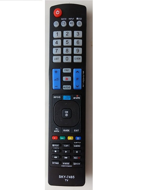 Controle remoto TV LG PLASMALCDLED AKB73756504