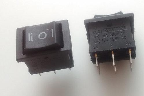 Chave gangorra KCD1203  3 posicoes  3 polos duplo stereo