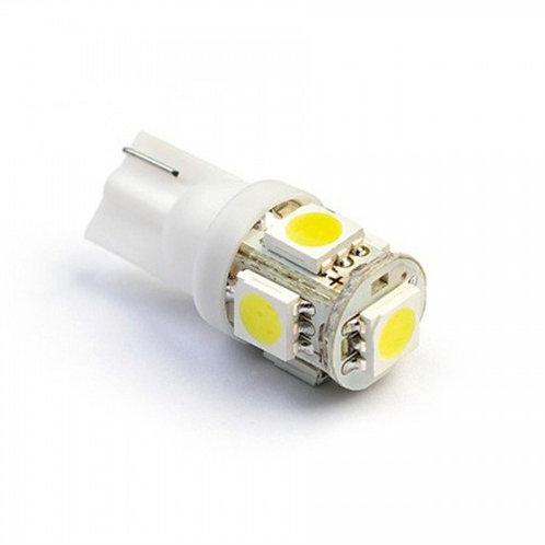 Lampada pingo com 2 par 5 leds Farolete meia luz Teto Placa e Painel de Moto