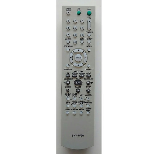 Controle remoto DVD SONY HOME Sky7590  MOD  DVD Sony Home Theater