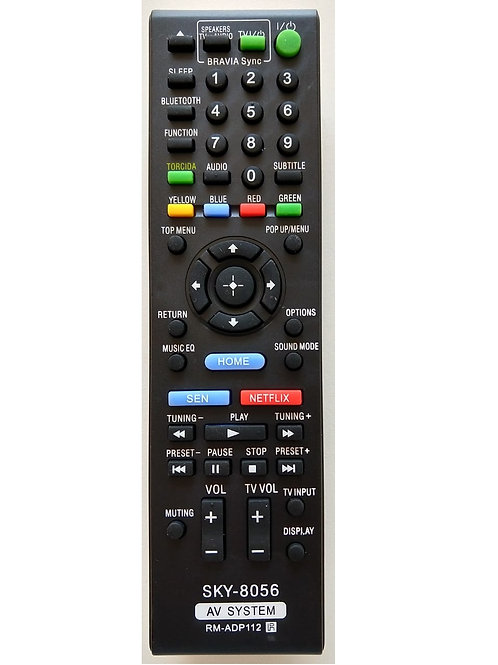 Controle Remoto Sony Home Theater Bluray Netflix  RMADP112Sky8056
