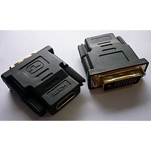 Adaptador HDMI Femea X DVI Macho Plasticol
