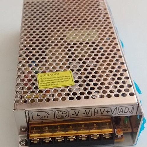 Fonte chaveada p CFTV  12V x 10 AMP – 120W