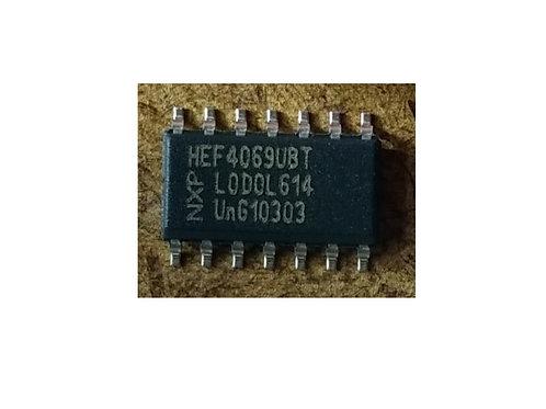Circuito integrado HEF4069BT  CD4069  SMD 7 pinos original