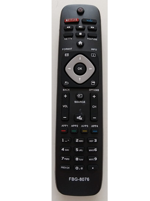Controle Remoto TV PHILIPS Smart com tecla Netflix Mod40PFG510078