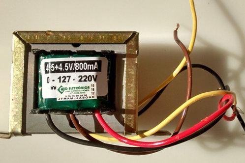 Transformador Forca   4545V 800mA 110  220V AC  Marca Gilson