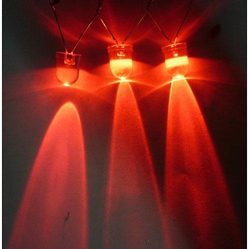 Led Diodo 10mm  12 V decorativo Vermelho 1300MCD