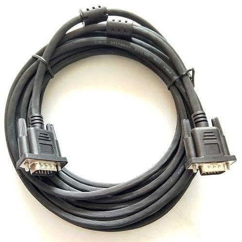 Cabo VGA monitor  DB15 M X DB15 M com filtro cor Preto 5mt Marca HARD LINE