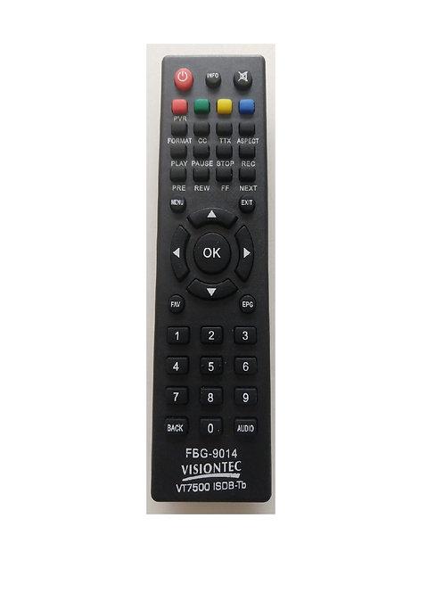 Controle Remoto  Receptor Visiontec - Vt7500 Isdb