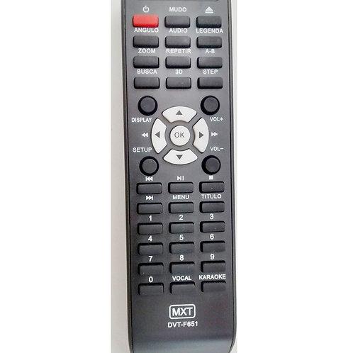 Controle remoto DVD Tectoy DVTF651